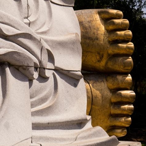 Pés de Buda deitado