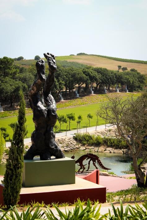 Vista da escultura de David Breuer-Weil